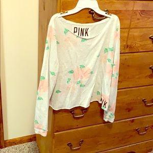 PINK cropped sweatshirt!❤️😊